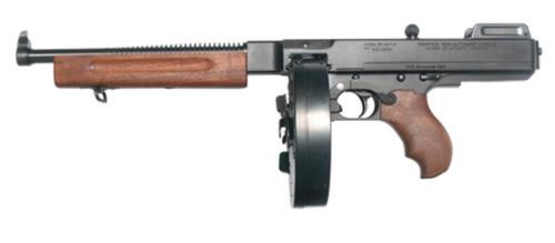 """Auto Ordnance Thompson 1927A-1 Deluxe Light Weight 45 ACP, 10.5"""" Barrel, Blue Finish, 100rd Drum"""