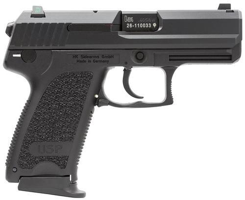 HK USP40 Compact (V7) LEM DAO, three 12rd magazines and night sights