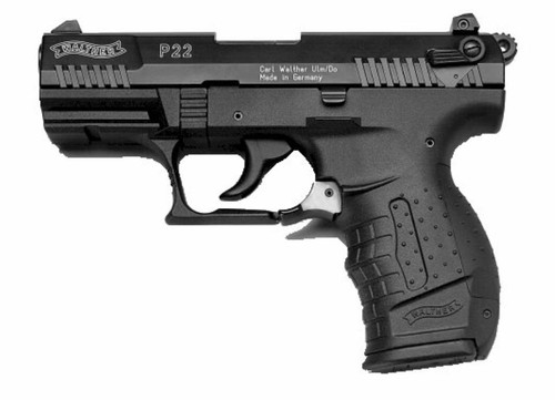 "Walther P22 22LR, 3.4"" Barrel, Blued, 10rd Mags"