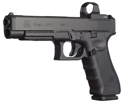 "Glock G34 Gen4 MOS 9mm 5.3"" Barrel, Adjustable Sights, 10 Rd Mag, Modular Optic System"