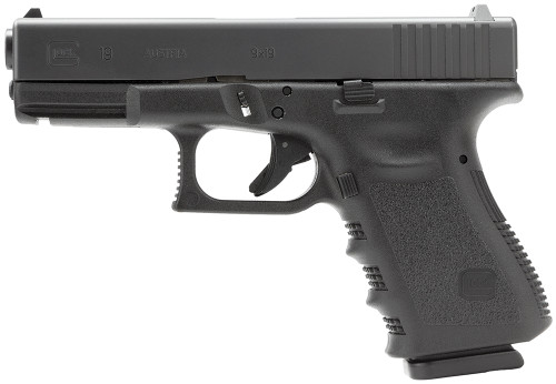 "Glock G19 Gen3 *CA Legal* 9mm, 4"" Barrel, Fixed Sights, Black, 10rd"