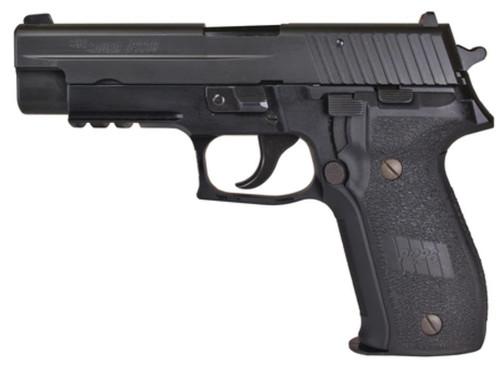 Sig P226 9mm, 4.4 Barrel, Contrast Sights, Black Nitron Finish, E2 Grips, 10rd CA LEGAL