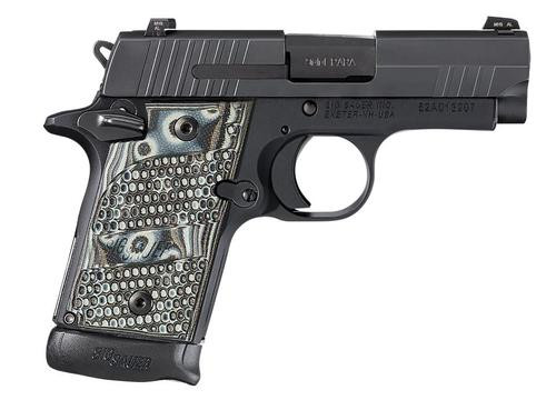 Sig P938 9MM 3IN Extreme Black SAO Siglite Black/Gray G10 Grip (1) 7RD Steel MAG Ambi Safety MA Compliant