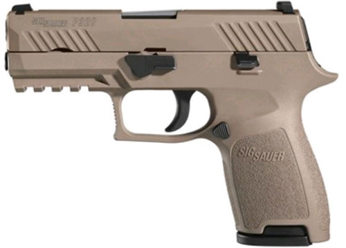 Sig P320 Compact 45 ACP, Flat Dark Earth,, , Nightsights,  9 rd
