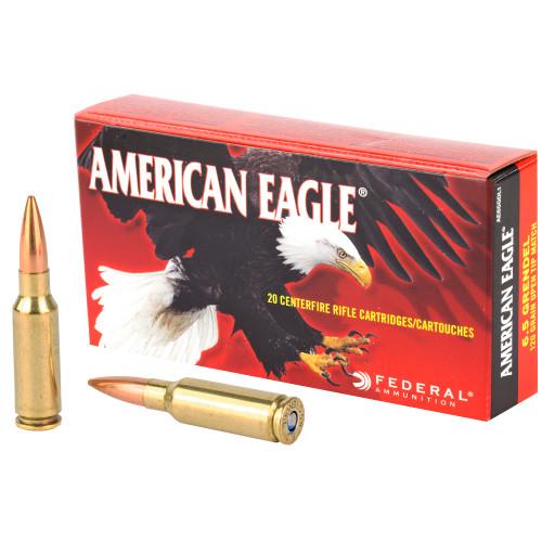 Federal American Eagle 6.5mm Grendel 123 gr, Open Tip Match 20 Box
