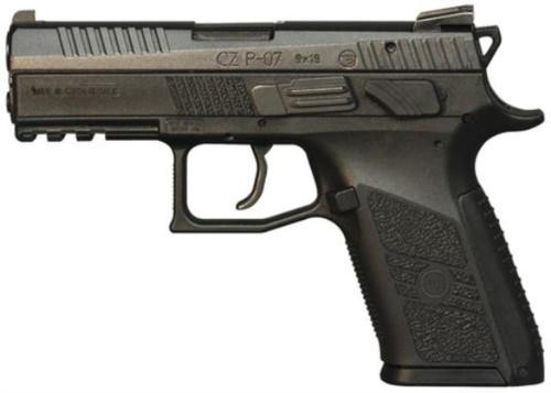CZ P-07 Compact 9mm 3.8 Barrel Interchangeable Grip 15 Rd Mags