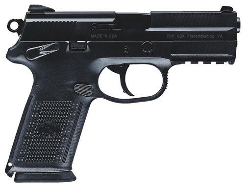 "FN FNX-45 DA/SA 45 ACP 4"" Barrel, Fxd 3-Dot 3 Mags Poly Grips Black Slide, 10rd"