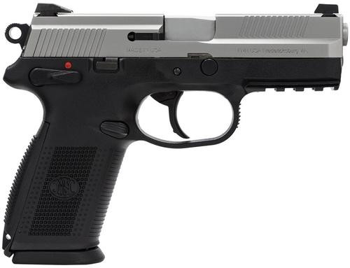 "FN FNX-9 DA/SA 9mm 4"" Barrel, 3-Dot 3 Mags Black Polymer Grips/SS Slide, 10rd"