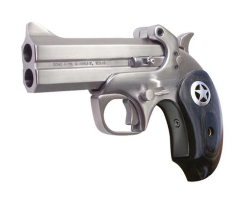 "Bond Arms Ranger II .45 Colt/.410 4.25"" Barrel, Matte Stainless Steel Finish, Black Ash Star Grip, Trigger Guard"
