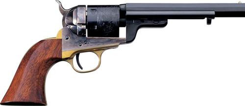 "Taylor's 1851 Navy C. Mason, .38 Special, 7.5"", 6rd, Walnut Grips, Blued"
