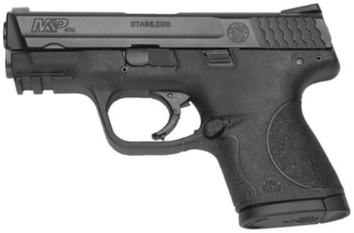 """Smith & Wesson, M&P, Compact, 40 S&W, Striker Fired, 3.5"""" Barrel, Polymer Frame, Black, Low Profile Carry Sights, 10Rd, 2 Magazines, No Thumb Safety, Magazine Disconnect, Massachusetts Compliant"""