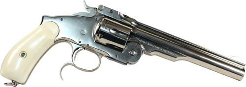 "Uberti Russian Top Break, .45 Colt, 6.5"", Nickel Finish, Ivory Grip"