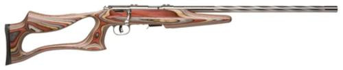 "Savage Model 93R17 BSEV .17 HMR, 21"" Stainless Steel Barrel, Laminate Barracuda Thumbhole Stock, 5rd"