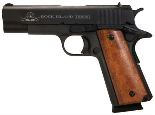 "Rock Island Armory 1911 GI Midsized 45 ACP 4.25"" Barrel Parkerized Finish Fixed Sights 8rd MA Compliant"