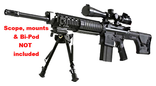 "Armalite AR10 SuperSASS 7.62/308 Rifle, MagPul Stock 20"" barrel 20rd Mag"