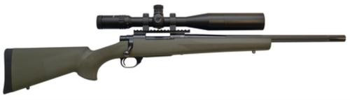 """Howa Hogue/TargetMaster Combo .22-250 Remington 20"""" Heavy Barrel Blue Finish Green Hogue Stock 5rds With 4-16x44mm Target Master Riflescope Illuminated Mil-Dot Reticle and Rings"""