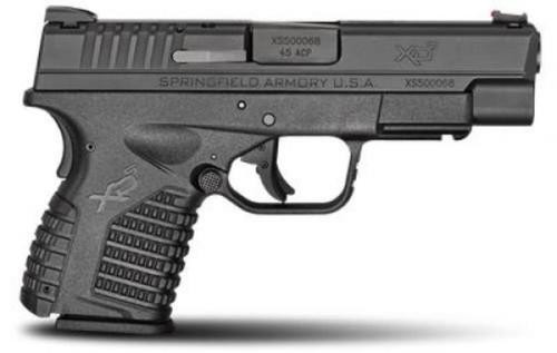 """Springfield XDS 45 ACP 4"""" Barrel Black, Essentials Package 5rd & 6rd Mags"""