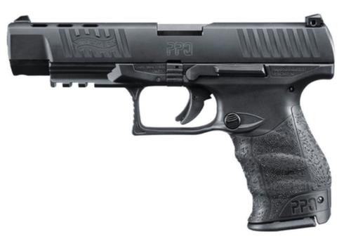 "Walther PPQ M2 9mm Black 5"" 10 Round, 2 Mags"