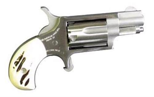 "North American Arms Mini Revolver 22LR, 1.125"" Barrel, SS Finish, Imitation Stag Grips 5Rd"