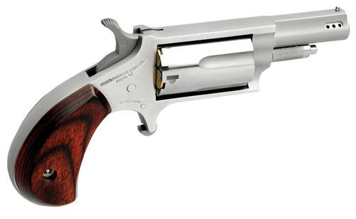 """NAA Ported Combo 22 Mag 1-1/8"""" 5rd Rosewood Grip SS, 22LR Cyl"""