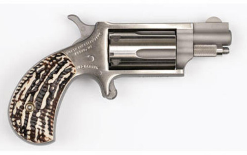 """North American Arms NAA, Mini Revolver 22WMR, 1.125"""" Barrel, SS Stag Grips, 5Rd"""