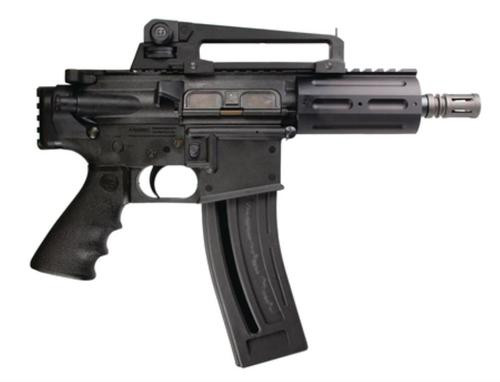 "Chiappa M4-22 Pistol 22LR 6"" Barrel Two Magazines 28 Rounds, Red Dot Scope"