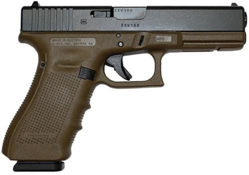 Glock 17 Gen4 9mm, Flat Dark Earth Frame, 17rd