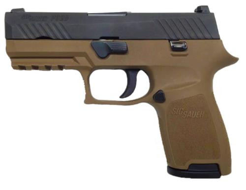 "Sig P320 Compact 9mm3.9"" Barrel Flat Dark Earth 15rd Mag"
