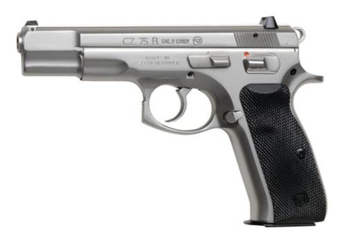 CZ 75 B 9mm polished stainless - 10 rd mags