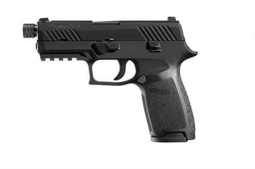 "Sig P320 9mm, 3.9"", Tacops Black, Striker Siglite MOD Poly Grip (4) 21Rd Steel MAG Rail Thread Barrel, (13.5X1mm LH)"