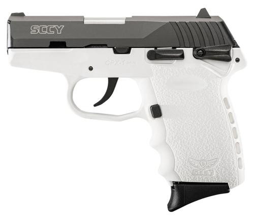 "SCCY CPX1 9mm, 3.1"" Barrel Ambo Safety White Polymer Frame 10rd Mag"