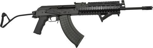 I.O. M214 7.62x39 SA 7.62X39,  Quad Rail Black Steel Folding Stock,  30 rd