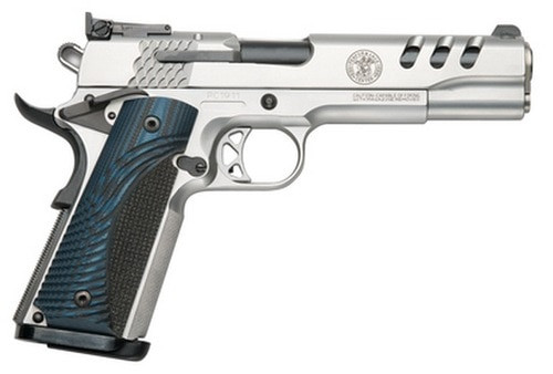 "Smith & Wesson 1911 Custom Performance Center 45 ACP 5"" SS Throated Barrel G10 Custom Grip"
