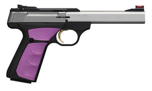 "Browning Buck Mark Plus 22LR 5.5"" SS Barrel Fuchsia Grips 10 Rd Mag"