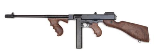 "Auto Ordnance Thompson Model 1927A-1 Deluxe 45 ACP Carbine 16.5"" Barrel Blue Finish Walnut Stock 30rd"