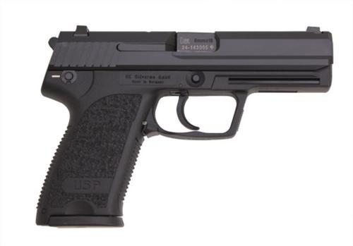 HK USP9 (V1) DA/SA, safety/decocking lever on left, two 15rd magazines
