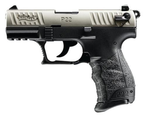 Walther Model P22 .22Lr 3.4 Inch Threaded Barrel Nickel Finish Picatinny Rail 10 Round