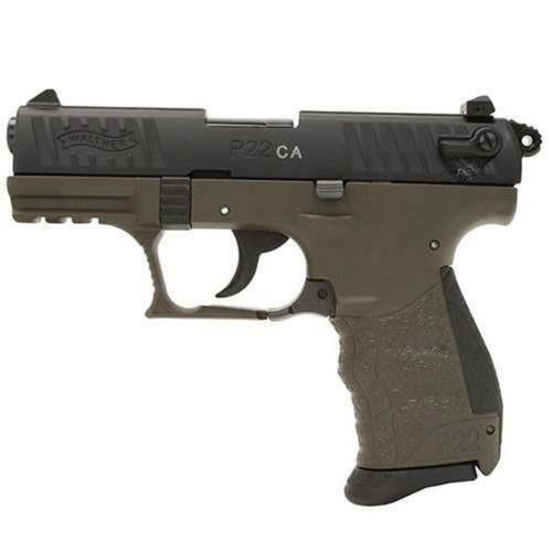 Walther P22 .22 L.R. CA Military 10rd, 2 Mags CA Apporved