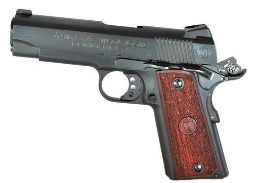 """American Classic 1911 Commander 9mm 4.3"""" Barrel, Mahogany Grip Blued, 9rd"""