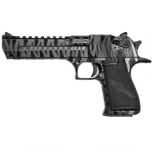 "Magnum Research Desert Eagle, .50 AE, 6"" Brrel, Black Tiger Stripe 8rd Mag"