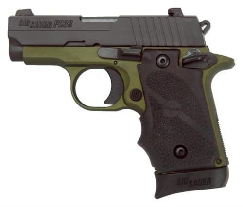 "Sig P238 Army .380ACP, 2.7"", Night Sights, Black Grip, 7rd"
