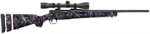 """Mossberg Patriot Super Bantam 7mm-08 Remington 20"""" Fluted Barrel Matte Blue Finish Adjustable LOP Muddy Girl Camouflage Synthetic Stock 5rd With 3-9x40mm Riflescope"""