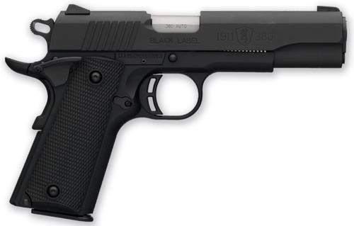 "Browning Black Label Pistol, .380 ACP, 4.25"", Composite Grips, Matte Black, 8rd"