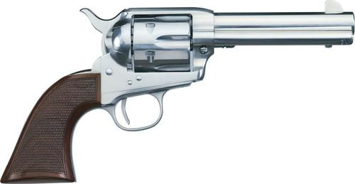 "Uberti 1873 Cattleman El Patron .45 Colt, 4.75"", Stainless, Checkered Walnut"
