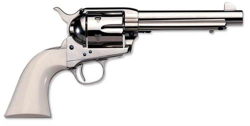 "Uberti 1873 Cattleman Cody .45 Colt, 7.5"", Polished Nickel, Ivory Grip"