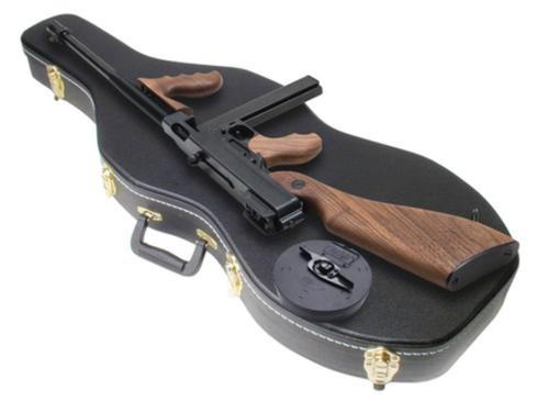 """Auto Ordnance Thompson Model 1927A-1 Deluxe 45 ACP Carbine 16.5"""" Barrel Blue Finish Violin Case Walnut Stock 10rd"""