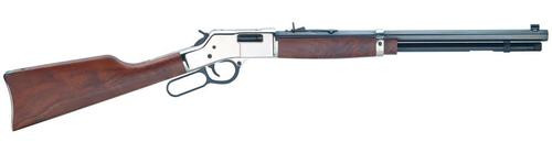"Henry Big Boy Silver 44Mag 20"" Octagon Barrel Walnut Stock"