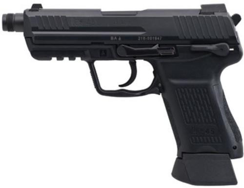 HK HK45 Compact Tactical (V1) DA/SA, safety/decocking lever on left, two 10rd magazines
