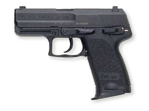 HK USP40 Compact (V1) DA/SA, safety/decocking lever on left, three 12rd magazines and night sights