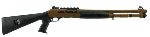 "Benelli M4 Tactical Shotgun Dark Earth Cerakote Ghost-Ring Sight 12 Ga 18"" Barrel"